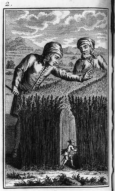 [Engraved frontis. illus. to each of four volumes of Swift, Voyages de Gulliver (Paris, 1795)]