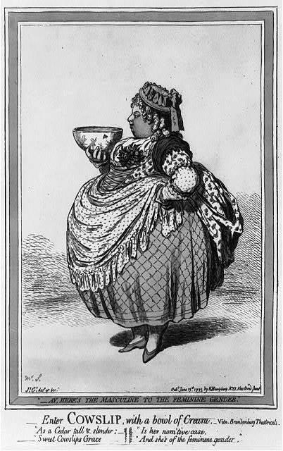 Enter cowslip with a bowl of cream. Vide Brandenburg Theatricals / Js. Gy., desn. et fect.