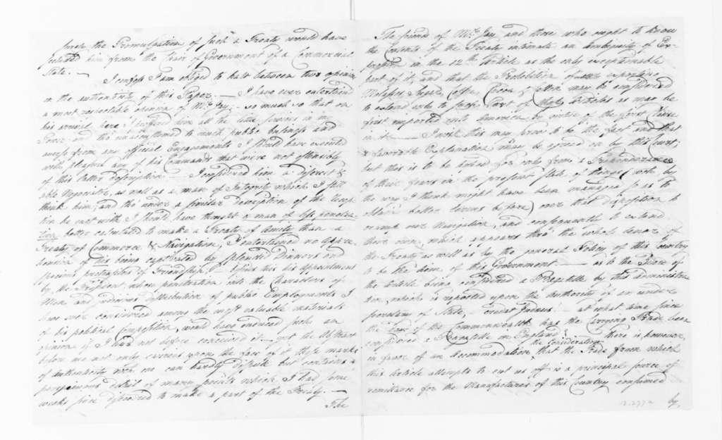 George Joy to James Madison, August 10, 1795.