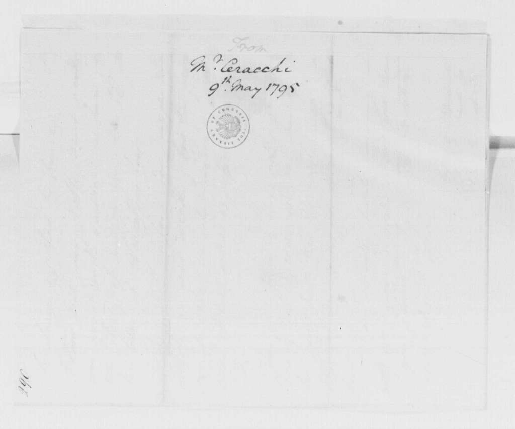 George Washington Papers, Series 4, General Correspondence: Joseph Ceracchi to George Washington, May 9, 1795