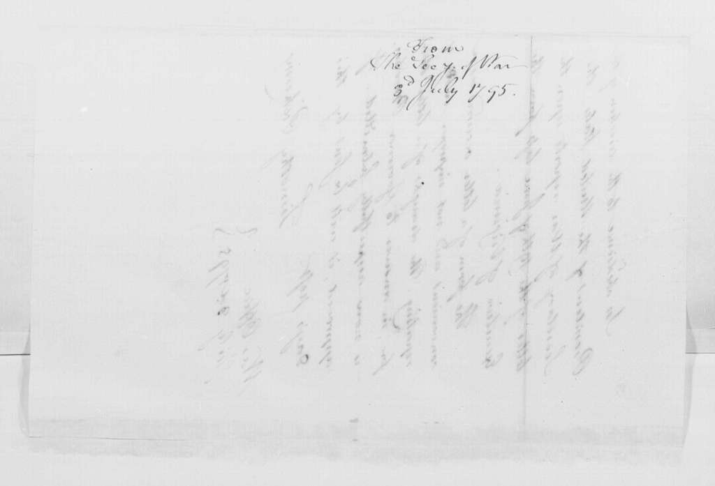 George Washington Papers, Series 4, General Correspondence: Timothy Pickering to George Washington, July 3, 1795