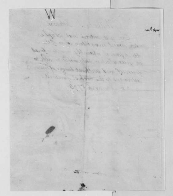 George Wythe to Thomas Jefferson, March 26, 1795