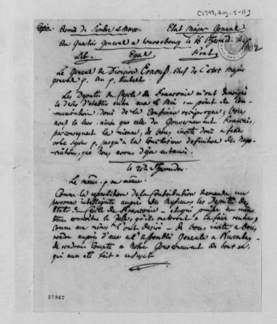 J. Philip Reibelt, August 5, 1795, Nuremberg Sessions, Appointment