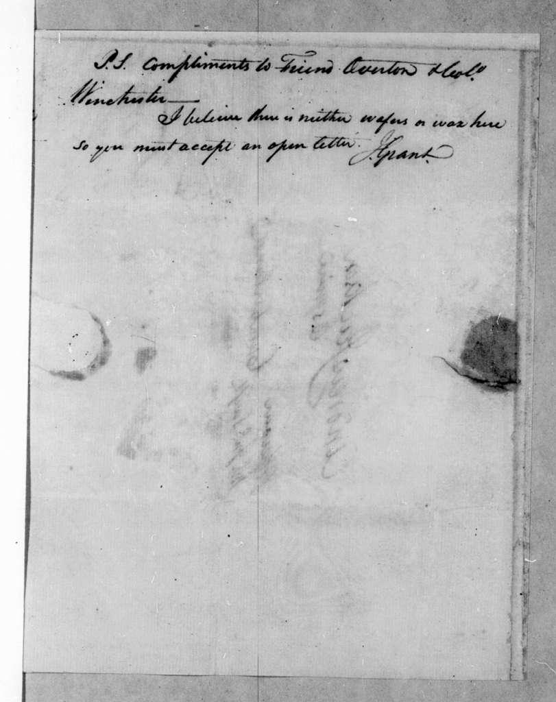 James Grant to Andrew Jackson, September 3, 1795