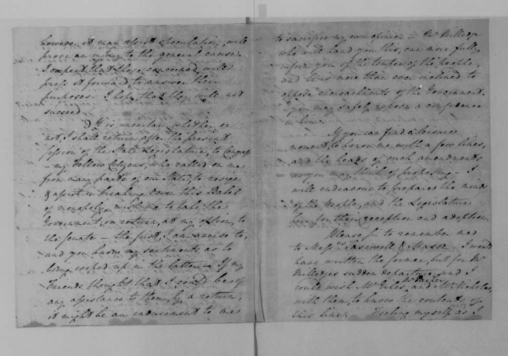 James Jackson to James Madison, November 17, 1795.