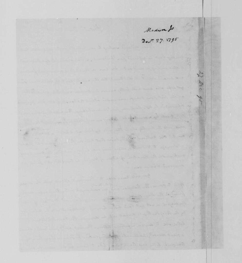 James Madison to James Madison Sr., December 27, 1795.