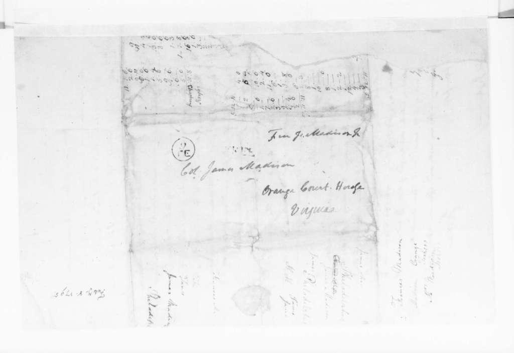 James Madison to James Madison Sr., February 8, 1795.