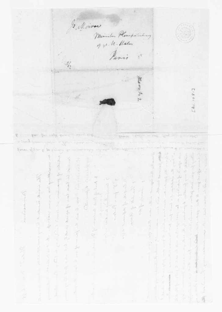 James Madison to James Monroe, March 26, 1795. Memorandum to James Monroe.