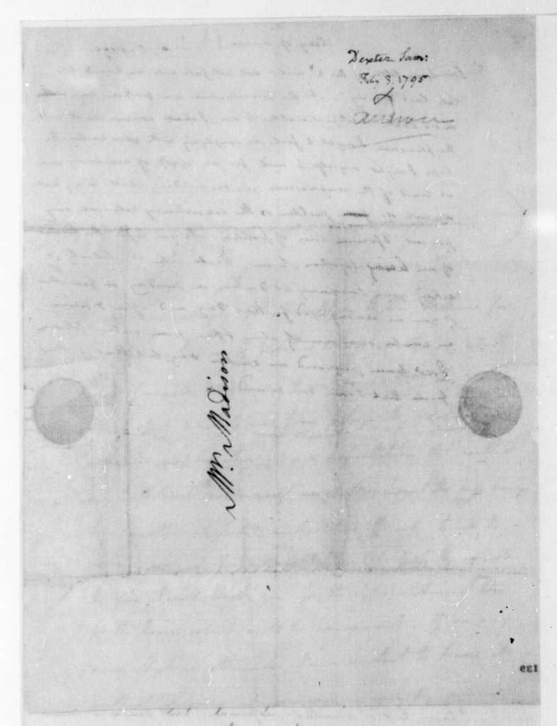 James Madison to Samuel Dexter, February 5, 1795.