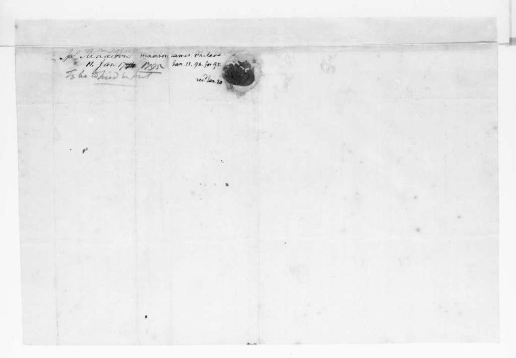 James Madison to Thomas Jefferson, January 11, 1795.