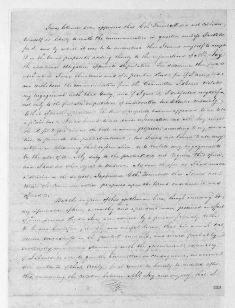 James Monroe to Edmond Randolph, April 14, 1795.