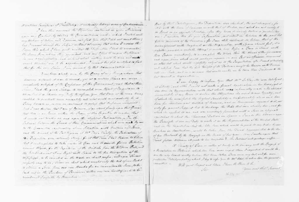 James Monroe to Edmund Randolph, February 12, 1795. Copy of J. Monroe letter to E. Randolph, enclosed in J. Monroe 2/18/1795 to J. Madison.