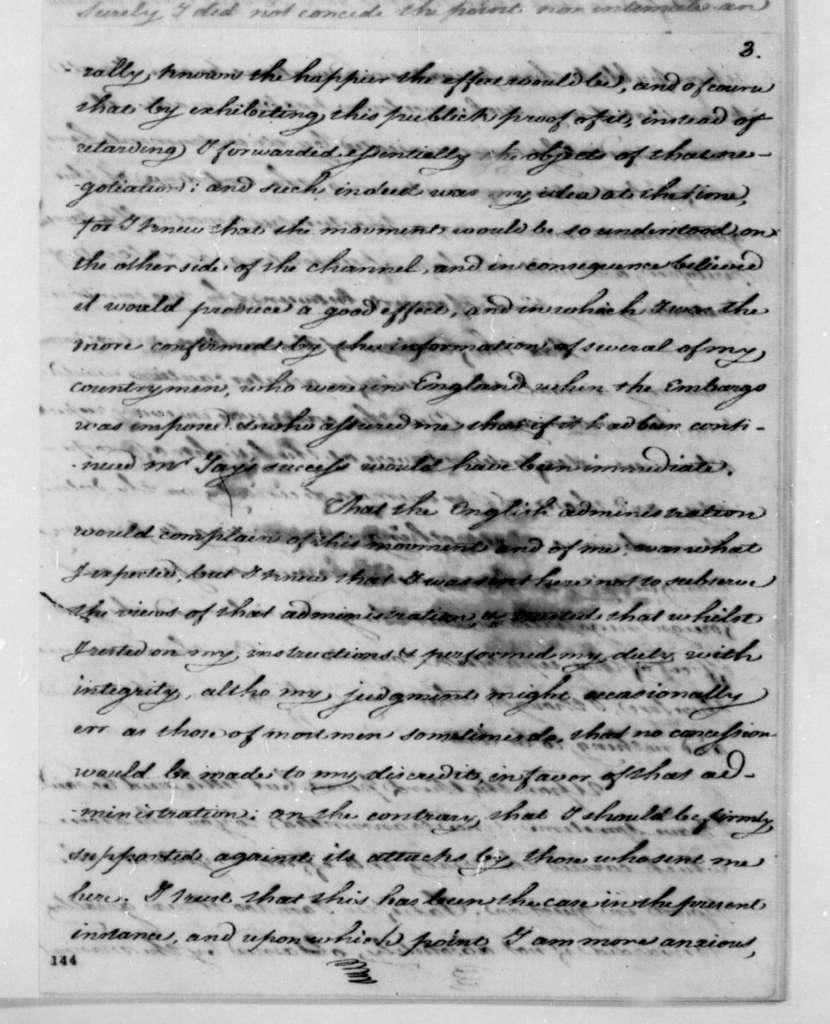 James Monroe to Edmund Randolph, March 17, 1795.