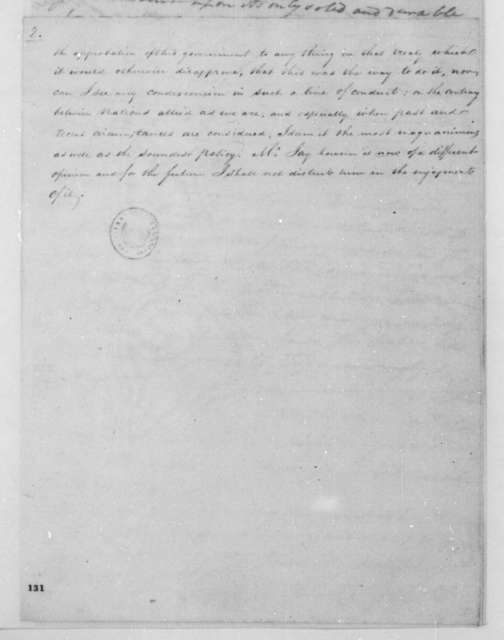 James Monroe to Edmund Randolph, March 17, 1795.