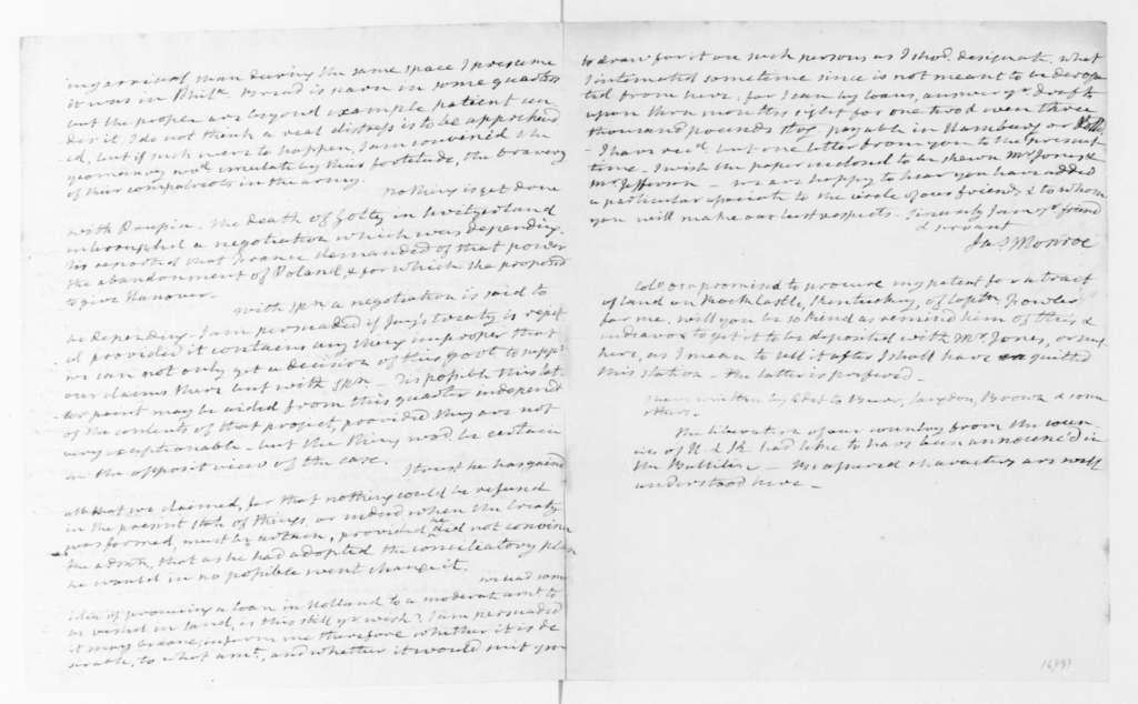 James Monroe to James Madison, February 25, 1795.