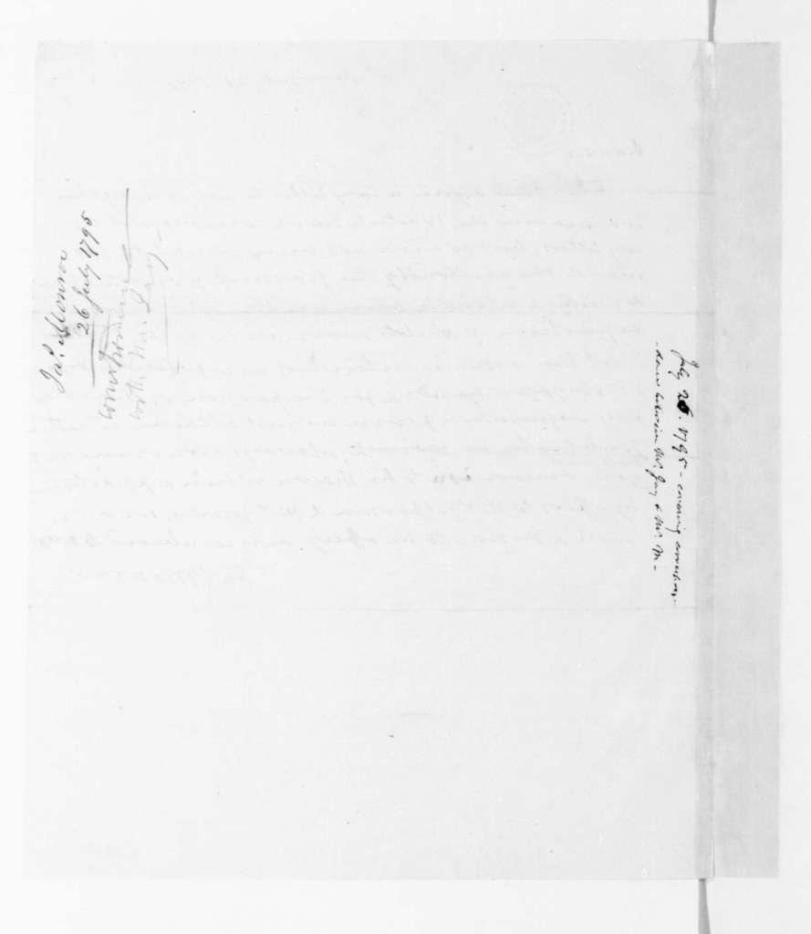 James Monroe to James Madison, July 26, 1795.