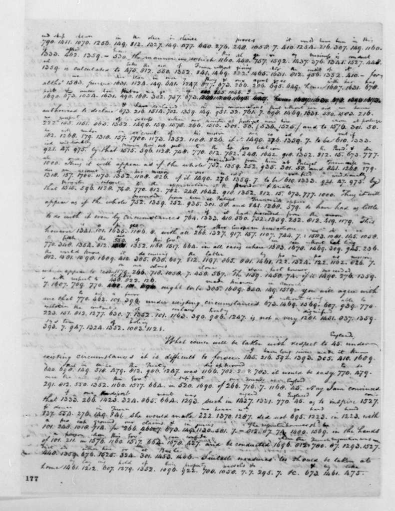 James Monroe to James Madison, September 8, 1795. Partly in Cipher.