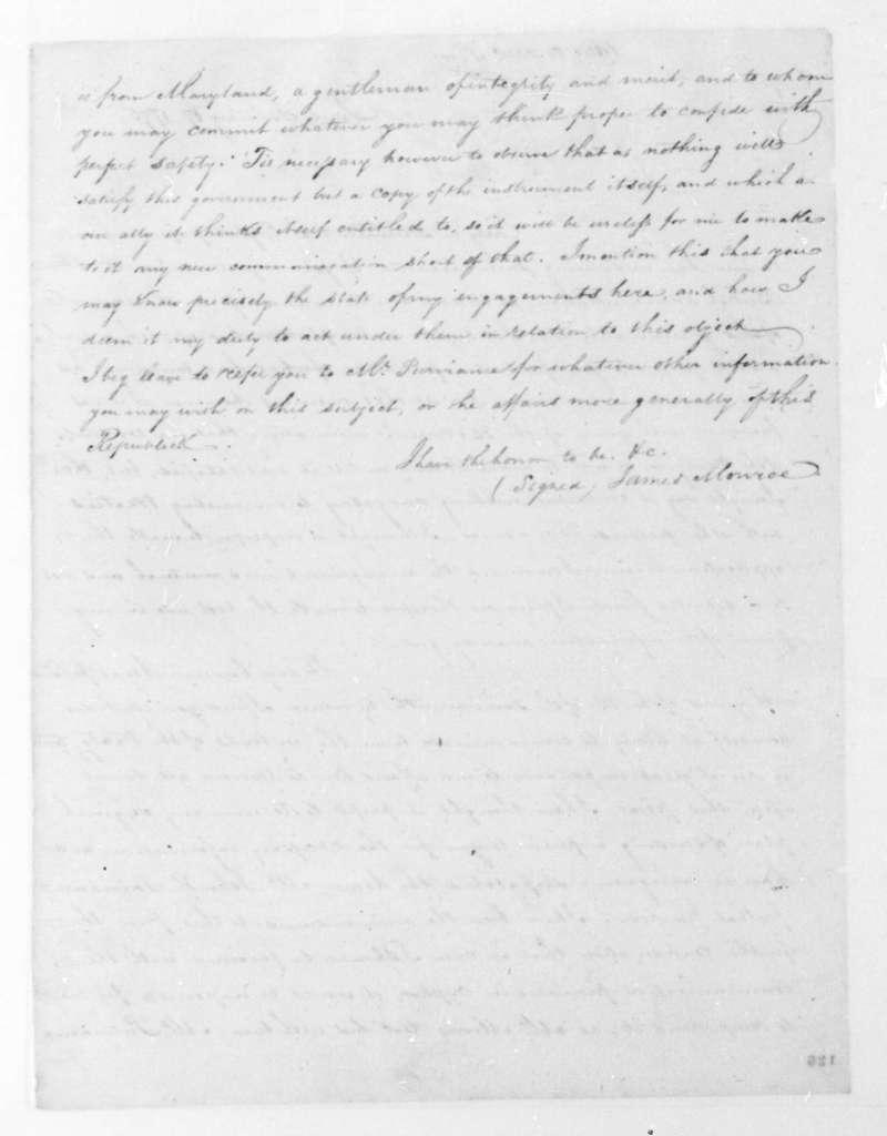James Monroe to John Jay, January 17, 1795.