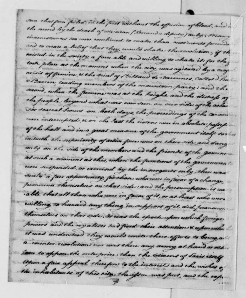 James Monroe to Thomas Jefferson, January 23, 1795