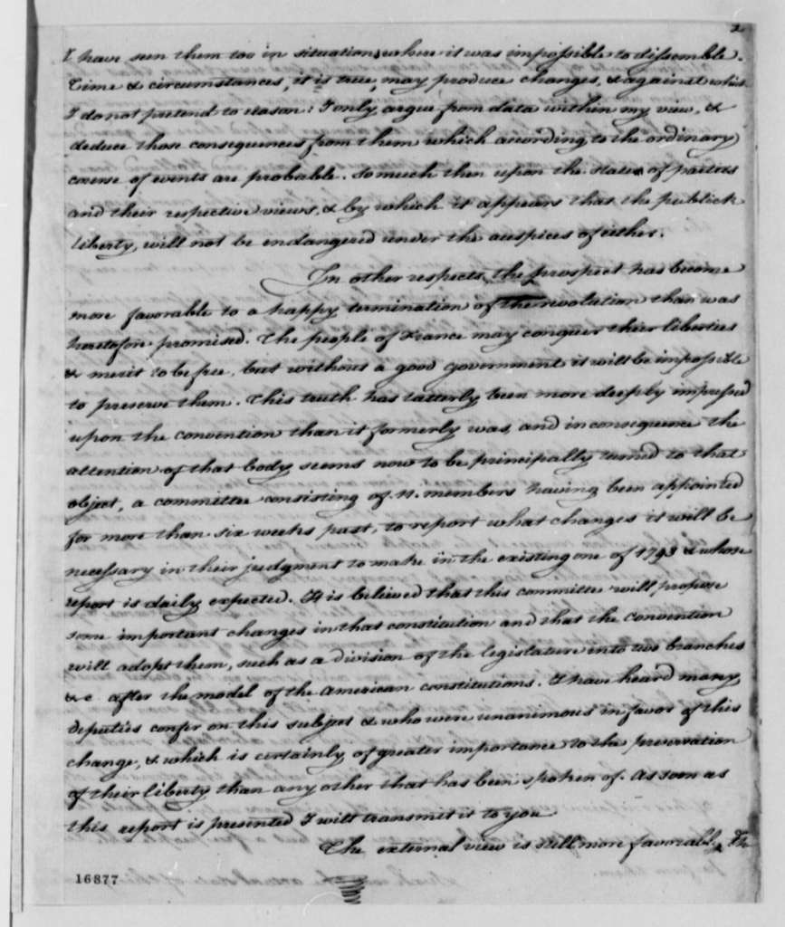 James Monroe to Thomas Jefferson, January 23, 1795