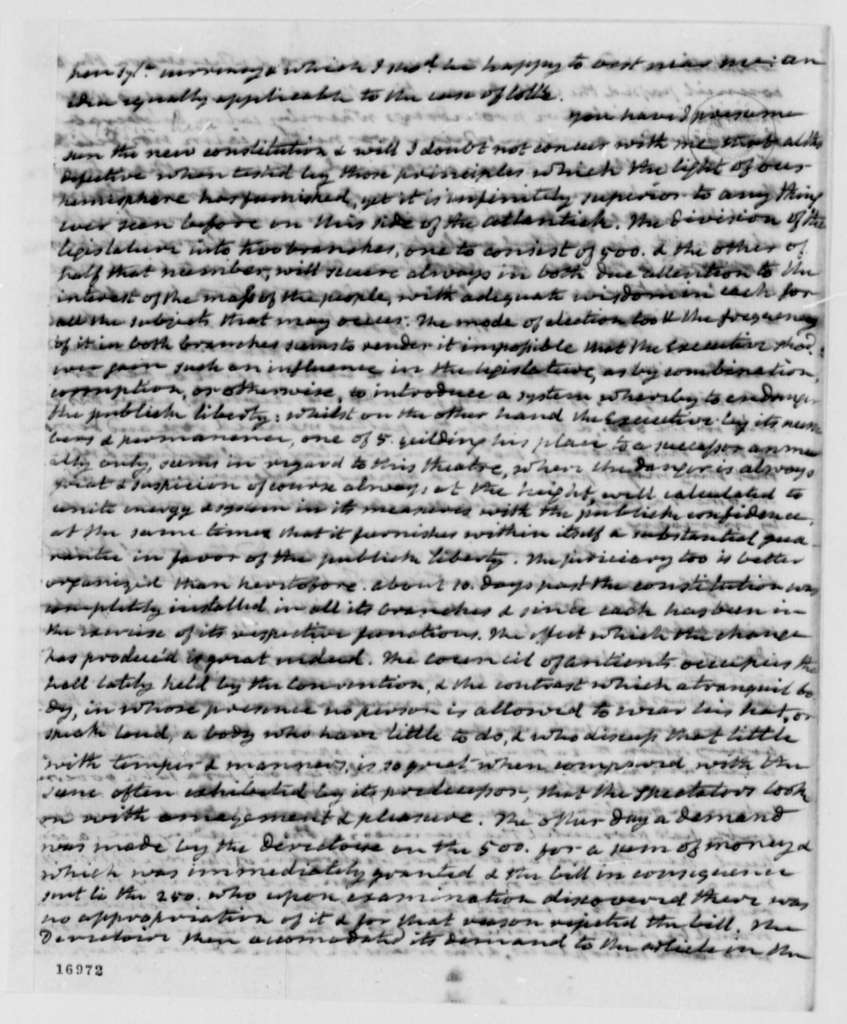 James Monroe to Thomas Jefferson, November 18, 1795