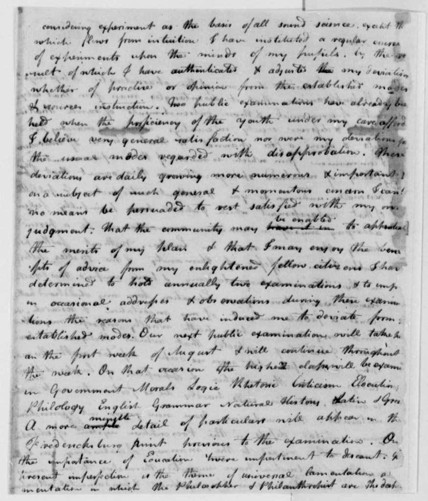 James Ogilvie to Thomas Jefferson, 1795