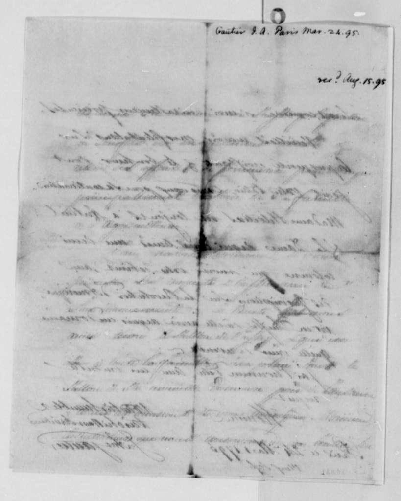 Jean Antoine Gautier to Thomas Jefferson, March 24, 1795, in French