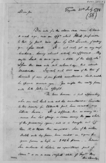 John Breckenridge to Thomas Jefferson, July 25, 1795