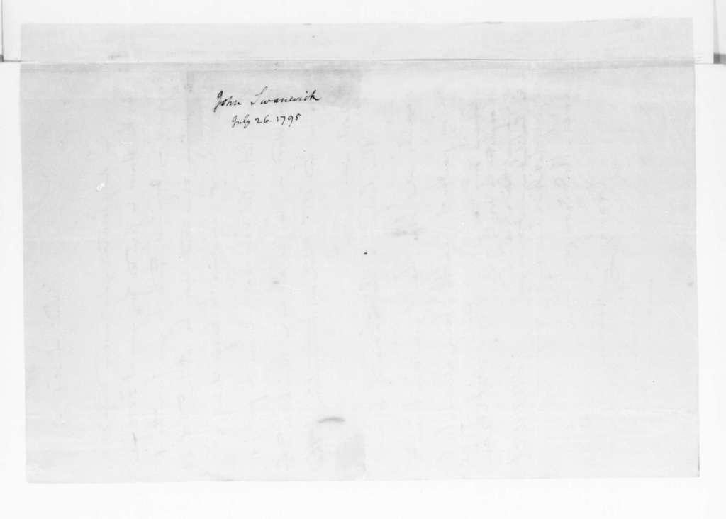 John Swanwick to James Madison, July 26, 1795.