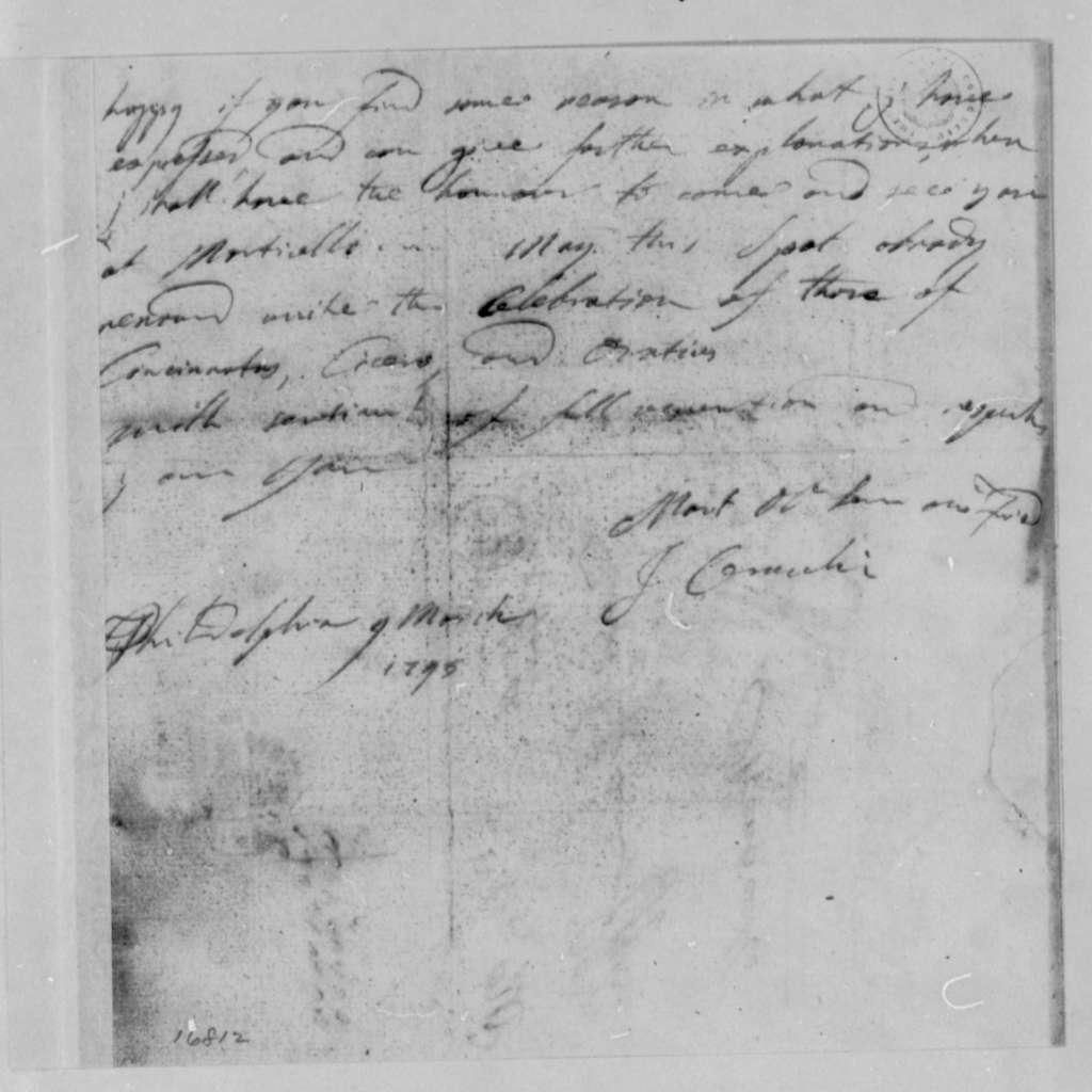 Joseph Ceracchi to Thomas Jefferson, March 4, 1795