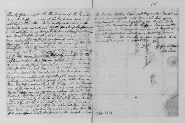 Joseph Jones to James Madison. 1795.