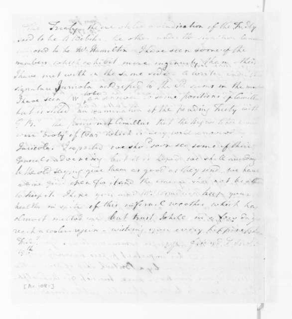 Joseph Jones to James Madison, June 19, 1795.