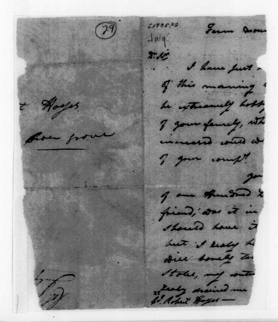 Leroy Pope to John Davidson, July 24, 1795