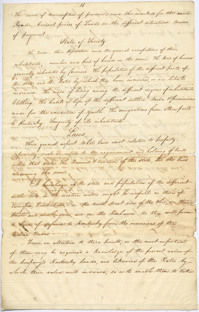 Letter from Nicholas King and Joshua Moore to the president of the North American Land Company
