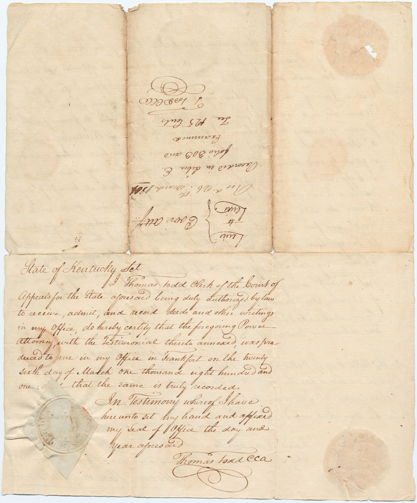 Letter of attorney appointing Gabriel Lewis attorney for John Lewis