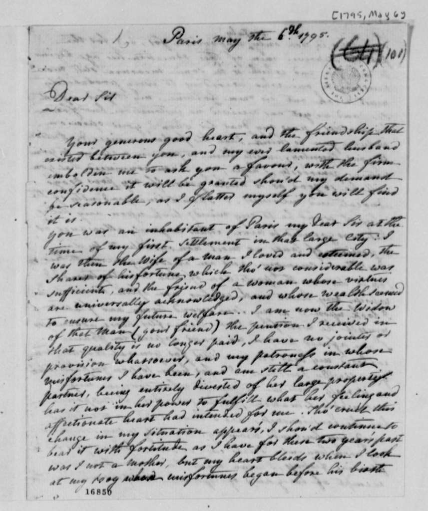 Marquis de Chastellux to Thomas Jefferson, May 6, 1795