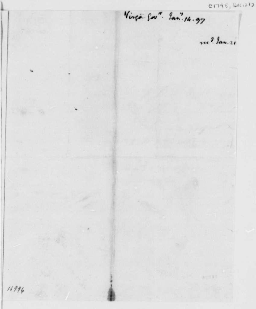 Maryland House of Delegates, December 21, 1795, Resolution