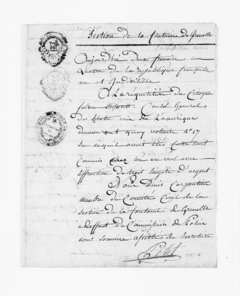 November 23, 1795. In French.