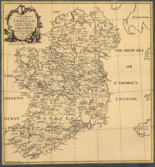 Ortelius Improved, or a new map of Ireland : Wherin are inserted the principal families of Irish and English extraction, who possess'd that kingdon[sic] on the commencement of the seventeenth century /