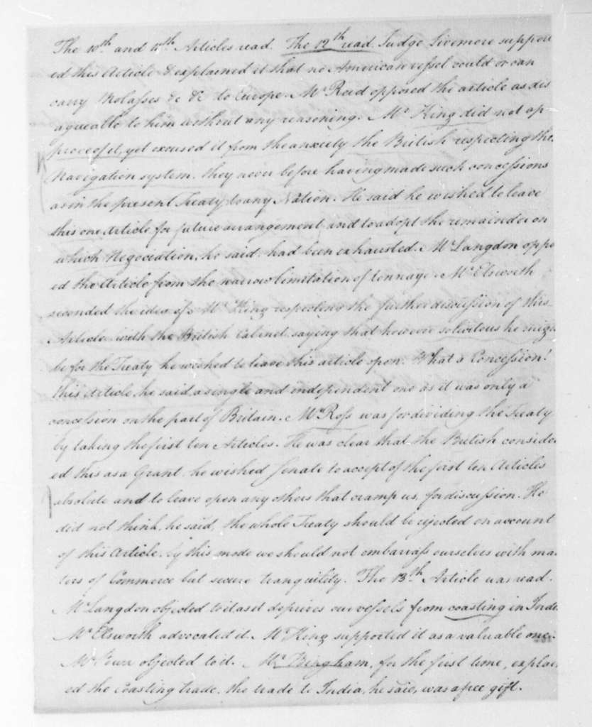 P. Butler to James Madison, June 26, 1795. With Extracts.