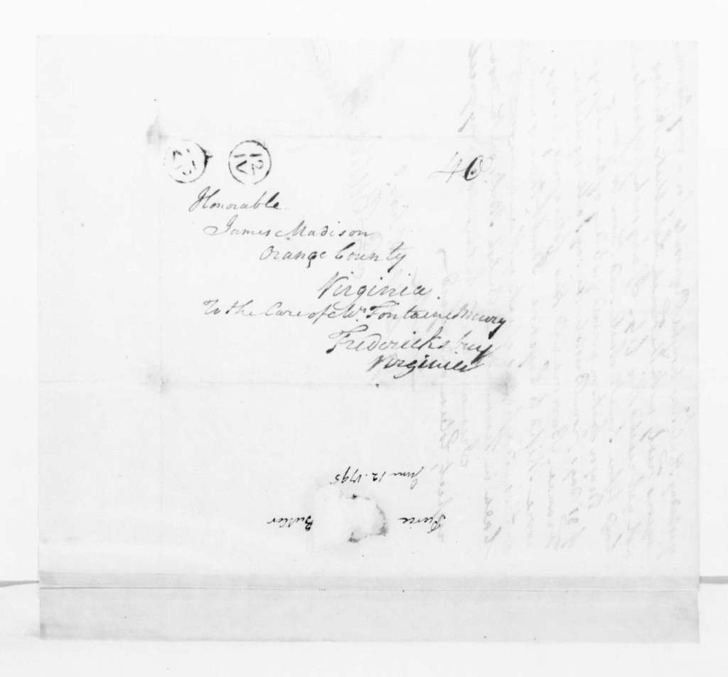 Pierce Butler to James Madison, June 12, 1795.