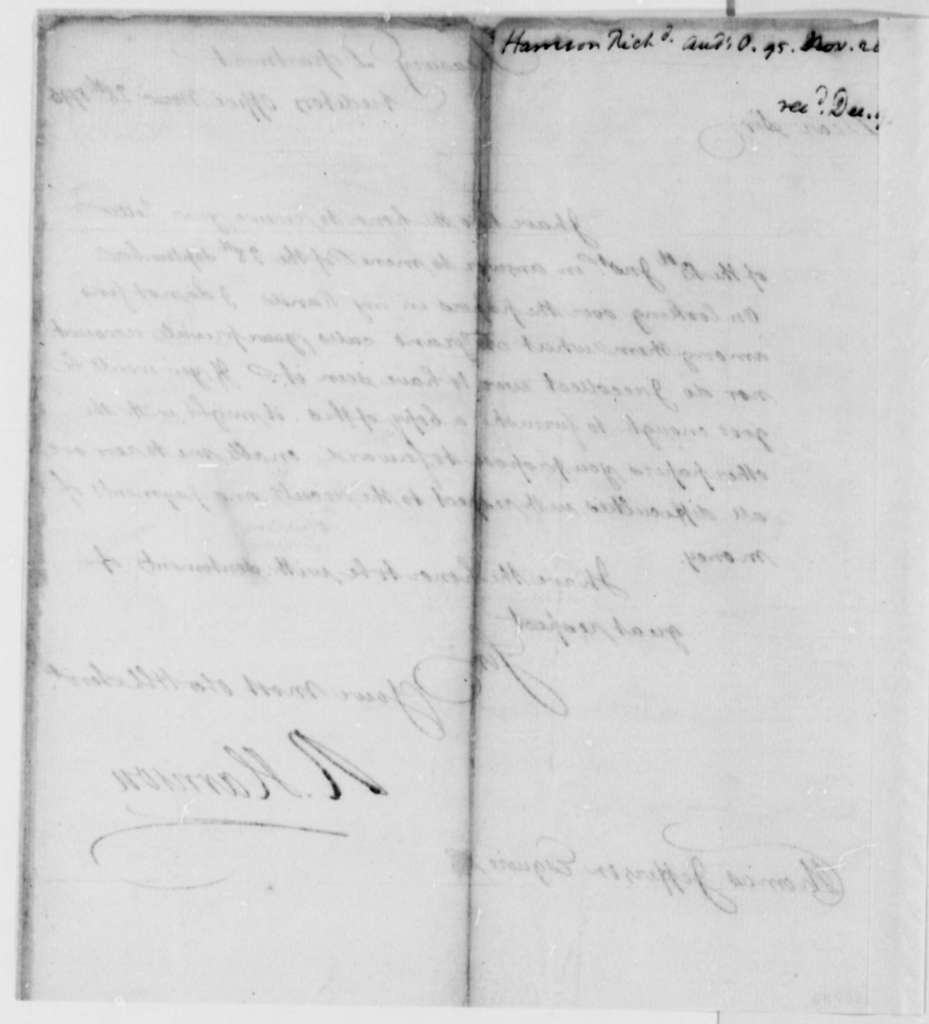Richard Harrison to Thomas Jefferson, November 28, 1795