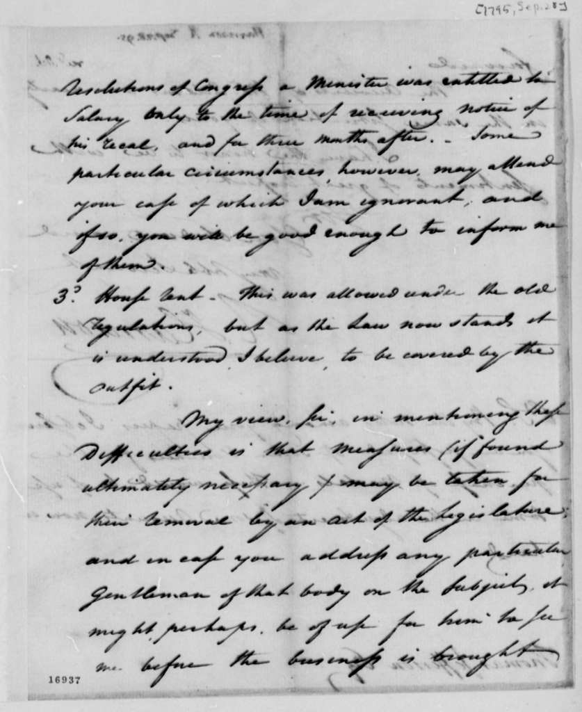 Richard Harrison to Thomas Jefferson, September 28, 1795