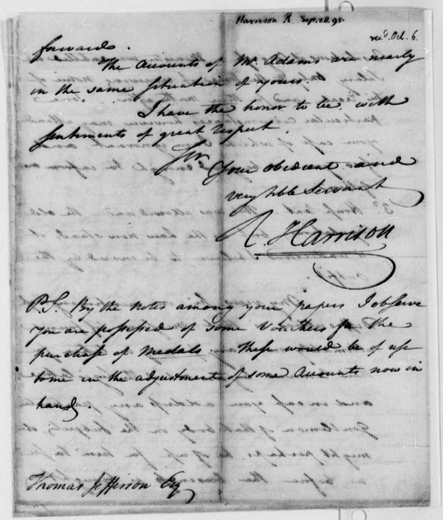 Richard Harrison to Thomas Jefferson, September 28, 1795