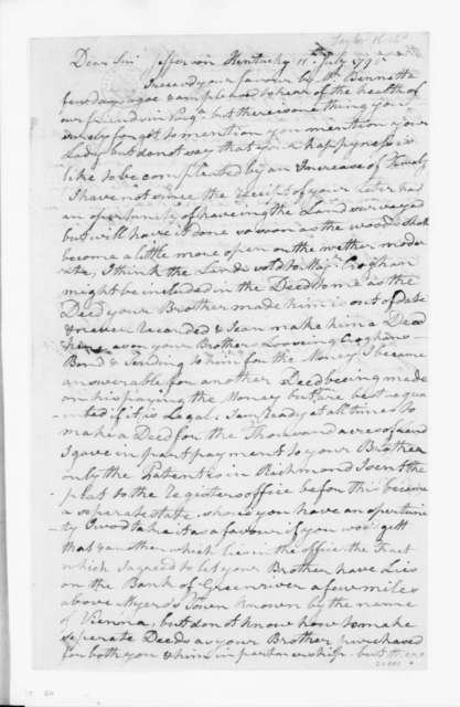 Richard Taylor to James Madison, July 11, 1795.