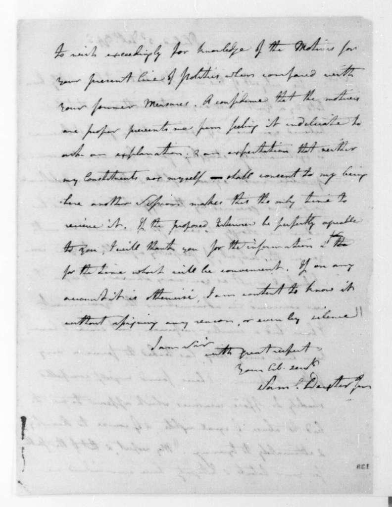 Samuel Dexter to James Madison, February 3, 1795.