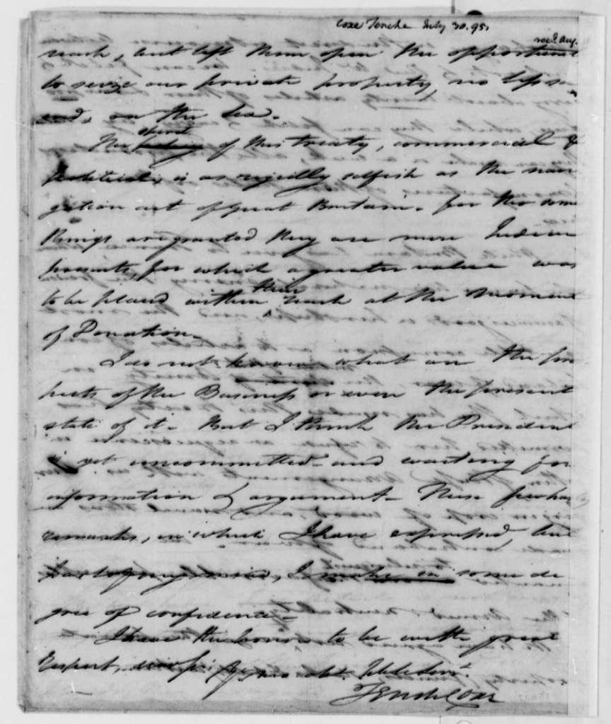 Tench Coxe to Thomas Jefferson, July 30, 1795