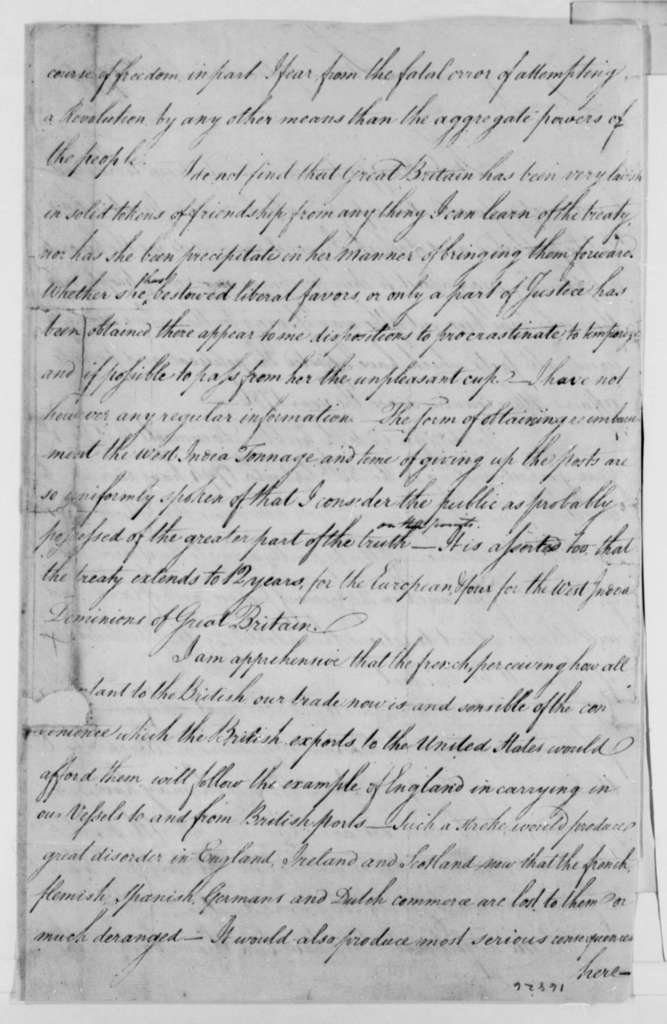 Tench Coxe to Thomas Jefferson, March 20, 1795
