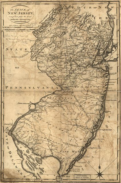 The State of New Jersey, compiled from the most authentic information.