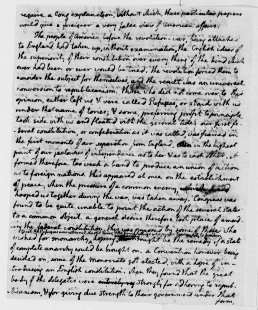 Thomas Jefferson, July 30, 1795, Notes on Christoph D. Ebeling